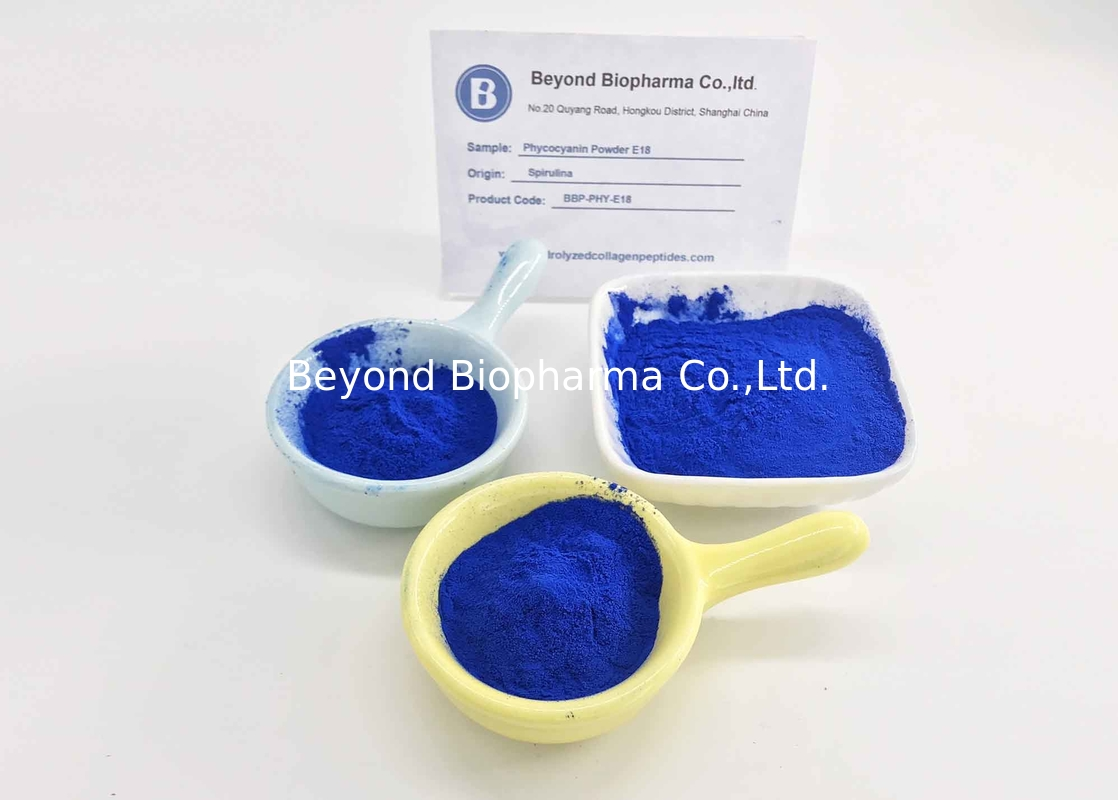 Kosher Verified Food Grade Phycocyanin Powder As Natural Blue Sweet Additives